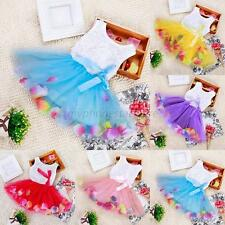 Baby Girl Bow Princess Dress Toddler Kids Wedding Party Pageant Tulle Dress Cute