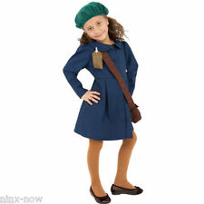 1940's World War II Girls Period Anne Frank Fancy Dress Costume