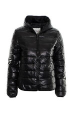 Women's Quilted Puffer Bubble Jacket Ladies Equestrian Hooded  Coat Jacket