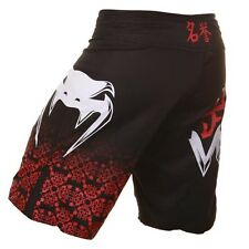 VENUM BUSHIDO BLACK FIGHT SHORTS BJJ UFC NO GI MUAI THAI NOGI CAGE BAG SMALL