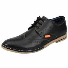FAUSTO Black Men's Brogue Shoes