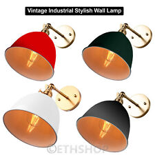 VINTAGE ANTIQUE INDUSTRIAL BOWL SCONCE LOFT WALL LIGHT WALL LAMP E27 LED BULB