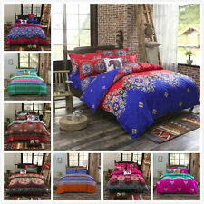 Ethnic Pattern Pillowcase Quilt Duvet Cover Single Queen King Size Bed Set L
