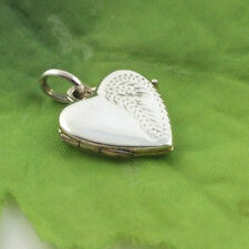 Sassi P4324 Ladies Small 925 Sterling Silver Half Engraved Heart Shaped Locket
