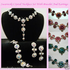 Crystal Necklace & Earring Set - CNS004