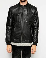 Gordania Stylish Slim Fit Biker Jacket Leather Jacket For Men GD272