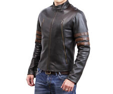 Gordania Limited Edition Xmen Wolverine Logan Leather Jacket For Men GD277