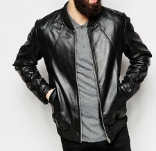 Gordania Stylish Slim Fit Biker Leather Jacket For Men GD269