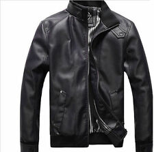 Gordania Stylish Slim Fit Biker Leather Jacket For Men GD264 Black