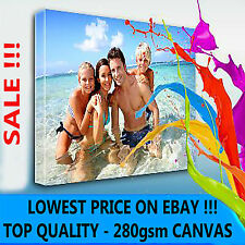 "YOUR PERSONAL PHOTO ON CANVAS 6"" x 8"" - DEEP 28MM FRAME ! TOP QUALITY ! SALE"