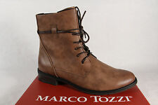 Marco Tozzi Women's Boots Ankle Boots Lace up Boots brown new