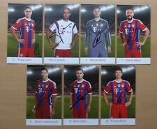2014-15 Signed Bayern Munich Official Club Cards