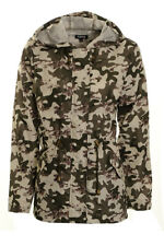 Women's Printed Rain Mac Ladie's Parka Style Festival Raincoat Sizes 8 10 12 14