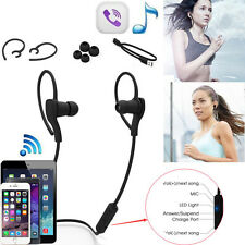 NUOVO Wireless Bluetooth Auricolare SPORT Cuffie Stereo LED per iPhone