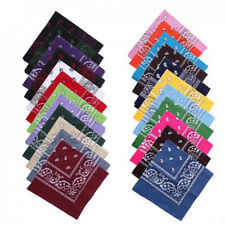Paisley Bandana Head Wrap Cotton Head Wrap Neck Scarf Wristband Handkerchief CN
