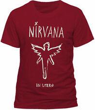 Nirvana In Utero Chalk Outline T Shirt OFFICIAL Red XXL