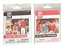 One Direction 1D 50 Tattoos 1 Pack Supplied Harry, Liam, Niall, Zayn, Louis NEW