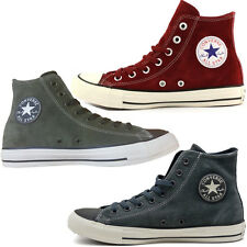 SCARPE CONVERSE HI ALL STAR CHUCK TAYLOR SUEDE LEATHER UOMO ALTE DONNA PELLE