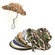 New Unisex Bucket Hat Boonie Hunting Fishing Outdoor Cap - Wide Brim Military