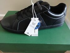 Lacoste Motspur GSL SPM mens shoes trainers sneakers black leather NEW IN BOX