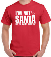 I'm Not Babbo Natale But You Can Sit On My Lap Divertente Da Uomo Natale T-Shirt