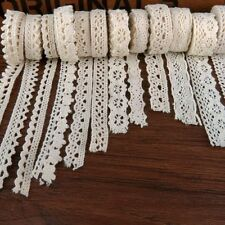 Apparel Sewing Fabric 5 Meters DIY Ivory Cream Trim Cotton Crocheted Lace Fabric