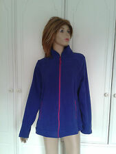 GEORGE ROYAL BLUE FLEECE PINK ZIPS SIZE 16 BNWOT