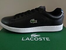 Lacoste Sport Carnaby EVO NTE SPM mens black shoes trainers sneakers NEW+BOX