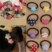 Cute Bow/Love/Heart/Striped Elastic Hair Ring Hair Rope Ties Ponytail Holder for