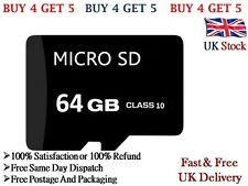 64GB TF Micro SD Memory Card Class 10 With Adaptor For Android Mobile Cameras