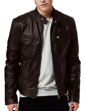 Gordania Stylish Slim Fit Biker Pure Leather Jacket For Men GD274BR