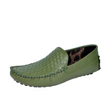 Mocas MS744 GREEN Men Driving Loafers