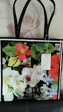TED BAKER black flower  Large Icon Tote Bag, Handbag Brand new