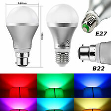 HOT B22 E27 RGB 16 Colors Changing Light 5W LED Globe Bulb Lamp With IR Remote