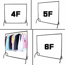 4 5 6 FT HEAVY DUTY CLOTHES GARMENT RAIL SHOP DRESS DISPLAY STAND RACK ALL METAL