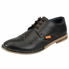 FAUSTO Olive Men's Brogue Shoes