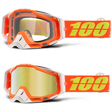 100% Prozent Racecraft MX Motocross Brille Razmataz klar/gold orange NEU