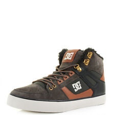 Mens DC Spartan High WC WNT Military Shearling Hi Top Skate Trainers UK Size