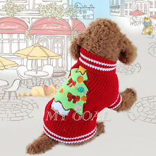 Pet Dog Cat Sweater Knit Jumper Winter Coat Puppy Christmas Clothes Apparel