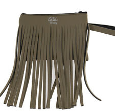 "TATU' BAG ""Niente paura"" Pochette Frange Neoprene Tasche Fringes Clutch Bag New"