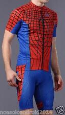 MTB SPIDERMAN GIACCA PANTALONE CICLISMO BICI CYCLING BIKE SPIDERMAN JERSEY PANTS