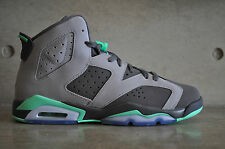 "Nike Air Jordan 6 Retro ""Green Glow"" GS - Cement Grey/Green Glow-Dark Grey"