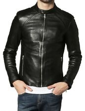 Gordania Stylish Slim Fit Formal Faux Leather Jacket For Men GD292Black