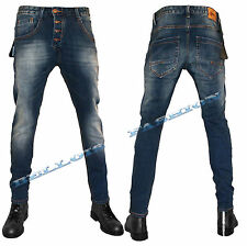 Pantalone Jeans Uomo Skinny Denim Comfort Fashion Vita Bassa Slim Fit Bellois