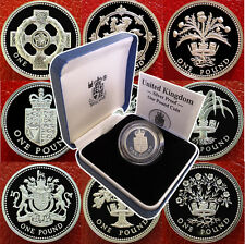 1983 to 2008 UK Silver Proof £1 coin Case + COA Royal Mint Multi Listing