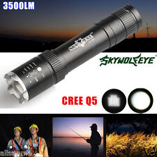 Powerful 3500LM 3 Modes Zoomable CREE Q5 LED 18650 Outdoor Flashlight Torch Lamp