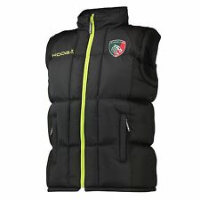 KooGa Mens Gents Rugby Leicester Tigers Padded Training Gilet Black/Fluro Green