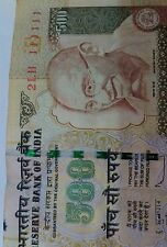 500 Rs rare note bearing sl no 111111