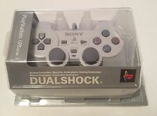 Official Sony PS1 PSOne PlayStation Dualshock Controller Grey Boxed Rare