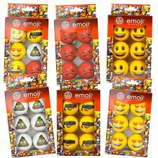 6 Official Emoji Novelty Golf Balls - Mixture - Funny Golf Balls -For Him or Her